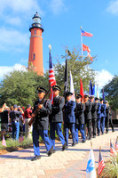 Ponce Inlet Veterans Day ceremony 11/11/15