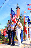 Veterans Day cerimony Ponce Inlet 11/11/13
